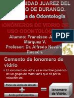 Ionómeros de vidrio de uso odontologico