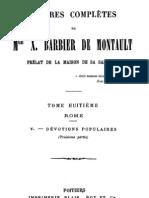 Oeuvres Completes de Mgr X.barbier de Montault (Tome 8)