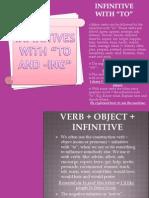 Infinitives and Gerunds - Gramatica Inglesa II SIN CELE