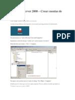 Crear Cuentas de Equipos Server 2008