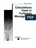 Calculations Used in Turfgrass Management
