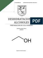 DESHIDRATACION DE ALCOHOLES
