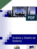 Análisis y Diseño de Sistema