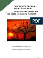 2010 12 23 Giulia Rondoni 0000347202 Chiara Mastria 0000344257 Quando l'Africa Chiama Nessunno Risponde