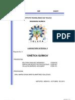 REPORTE 9 CINETICA QUIMICA