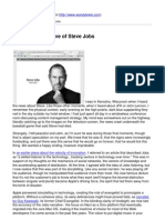 The Social Narrative of Steve Jobs