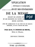 Explication littérale, historique et dogmatique des prières et des cérémonies de la messe (tome 4)