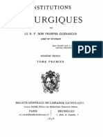 Institutions Liturgiques (Tome 1)