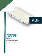 Adtran MX3112 Manual