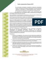Carta Compromiso Oaxaca 2011