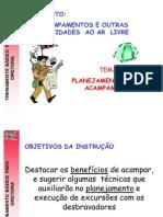 PLANEJAMENTO DE ACAMPAMENTO