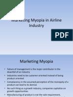 Marketing Myopia in Airline Industry