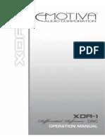 XDA 1 Manual