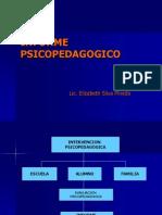 informe psicopedagogico