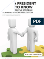10 Things Presidents Need to Know About Strategic Planning