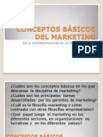 CONCEPTOS BÁSICOS DEL MARKETING