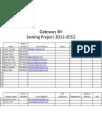 gateway 4h sewing 2011