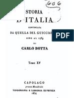 C. Botta, Storia d Italia continuata da quella del Guicciardini sino all'anno 1789