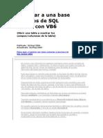 Conectar a Una Base de Datos de SQL Server Con VB6