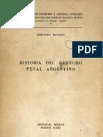 Historia Del Derecho Penal Argentino - Abelardo Levaggi