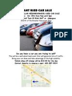 Mdn Car Sale Flyer