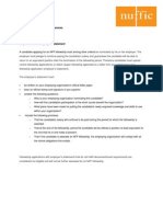 Requirements of Employers Statement Short Courses
