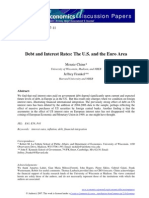 Debt and Interest Rates, The U.S. and the Euro Area