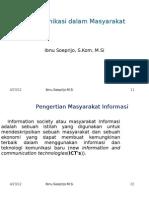 Media Komunikasi Dalam Masyarakat Informasi