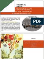Dossier de Presse Amoureusement Soupe 5 Nov