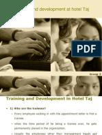 Training and Development at Taj Hotels