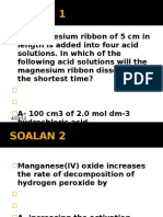 Soalan Latihan - Rate of Reaction