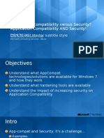 Application Compatibility Versus Security
