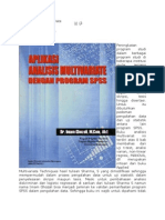 Aplikasi Analisis Multivariate Dengan Program SPSS