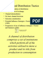 i.channel and Distribution Tactics 9