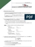 Aplicaciones de la ecuación de segundo grado