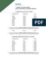 2011 Tech Price Sheet