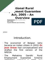 National Rural Employment Guarantee Act - 2005
