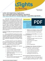 9_labor and Employment Implications of a Cooperation and Development Agreement