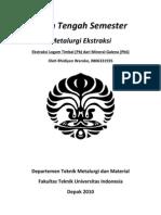 Ekstraksi Logam Timbal (Pb) Dari Mineral Galena (PbS)