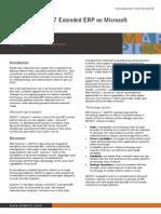 Whitepaper - MAPICS SyteLine 7 Extended ERP on Microsoft