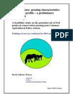 Semi-Feral Fell Pony Report