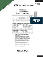 TX-SR505 Onkyo Service Manual
