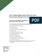 CISCO 12008 Router Switch Data Sheet