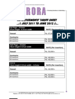 AURORA Ads Tariff Sheet July11-June2012
