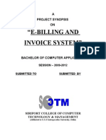 eBilling and Invoice System -SYNOPSIS