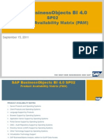 SAP Business Objects BI 4.0 SP02 Product Availability Matrix (PAM)