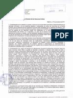 Carta de la FAPA Giner de los Ríos a la ONU