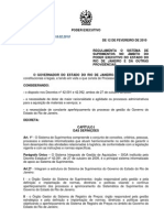Decreto 42301 SPLAG RJ