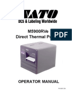 Sato m5900 Manual