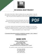 Swanton School Roof Project